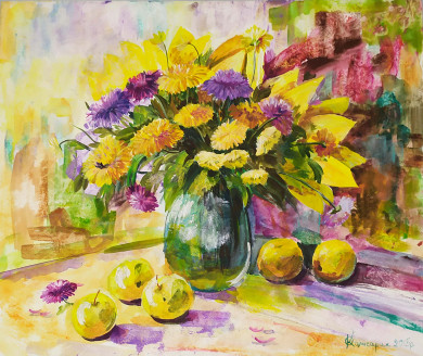 """""""Autumn apples with shining gold of sun""""."""